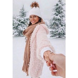 • CCO SALE • Parisa Shaggy Faux Fur Coat - Pink